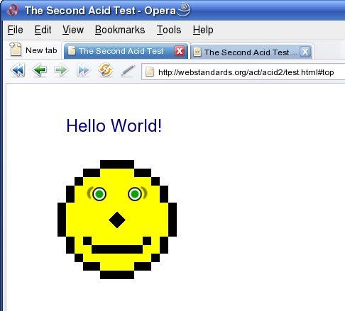 Opera przechodzi test Acid2