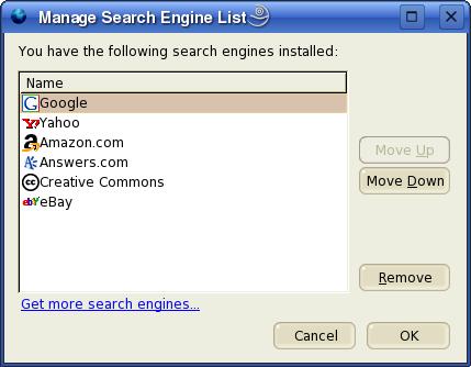 Menedżer wyszukiwarek