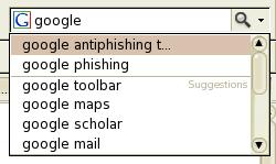 Podpowiadane są ostatnio szukane frazy oraz najpopularniejsze, szukane w wyszukiwarce