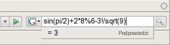 sin(pi/2)+2*8%6-3!/sqrt(9)