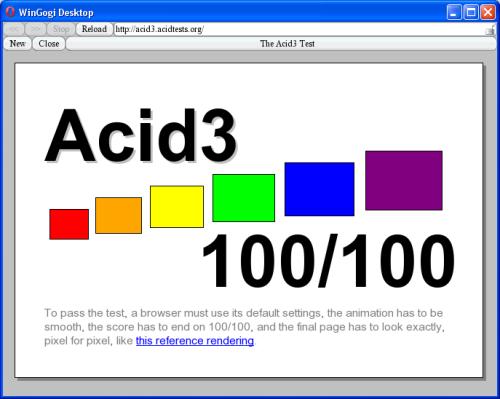 Specjalny testowy build Opery - prawie przechodzi test Acid3