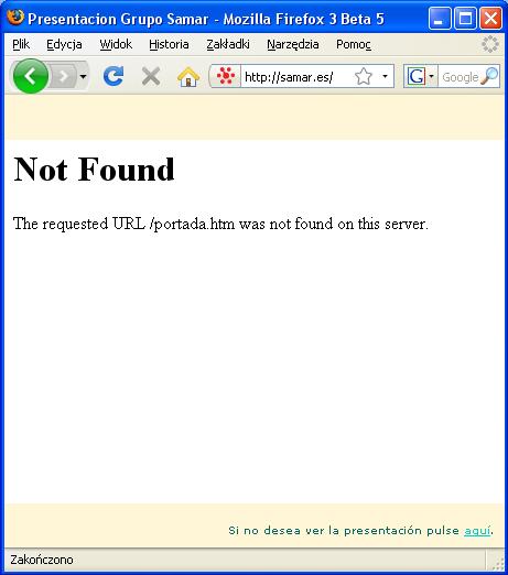 Nie znaleziono strony - Samar