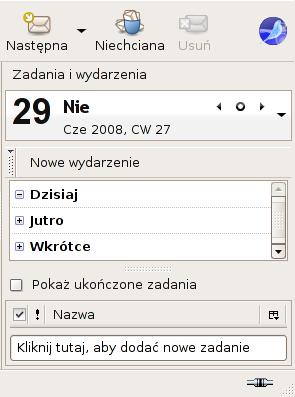 Polski Lightning w przyszłym SeaMonkey 2.0, panel bieżących spraw