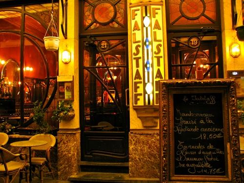 Wejście do restauracji Falstaff