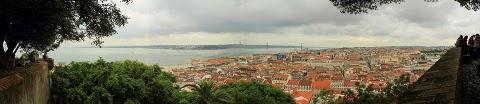 Lizbona - widok z Castelo de São Jorge