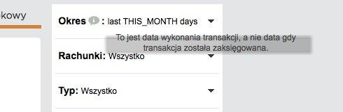 last THIS_MONTH days wyświetla się w polu okres, obok podpowiedź, której tło jest za małe (tekst zajmuje więcej miejsca)