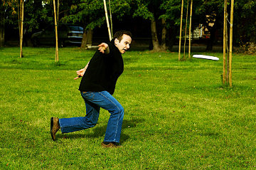 Tomasz Dominikowski rzucił frisbee