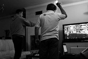 Zbigniew Braniecki i Adrian Kalla - strzelanie z łuku w PlayStation Move
